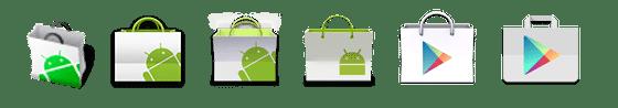 Google Play Store icon evolution evolucao
