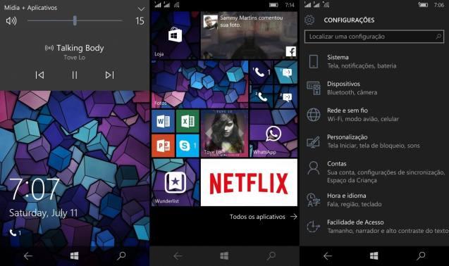 Refinamentos na Interface - Windows 10 mobile