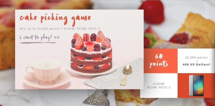 Cortar o bolo, Gearbest