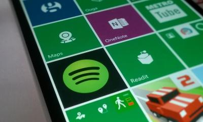Spotify para Windows Phone - Live Tile