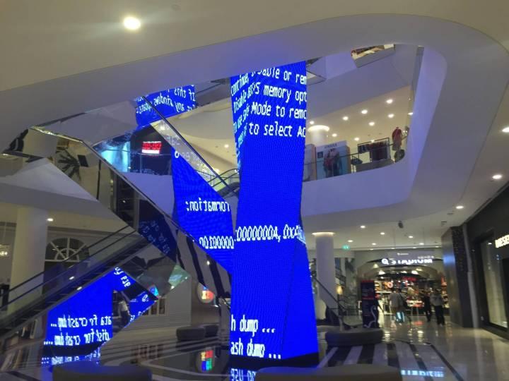 Tela Azul da Morte: presença garantida em caixas eletrônicos, aeroportos e shopping centers desde 1993