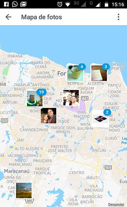 Mapa de fotos do Instagram