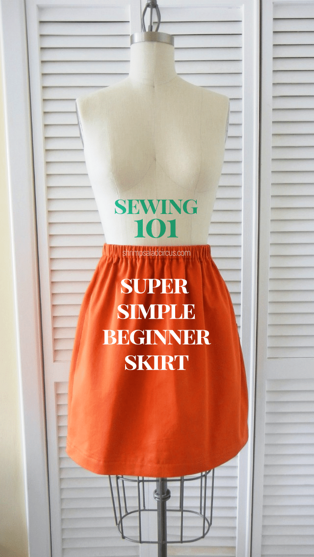 How to Sew a Super Simple Skirt - Sewing 101