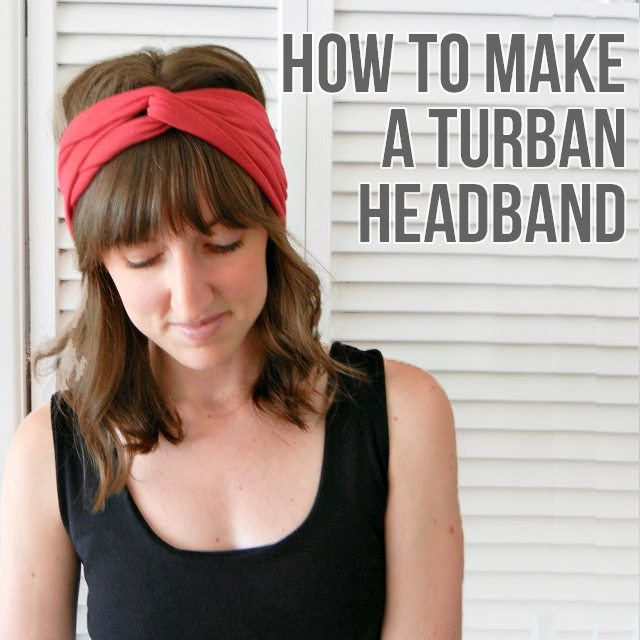 Easy Turban Headband . Sewing 101