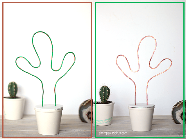 DIY Neon Cactus Light - Front & Back