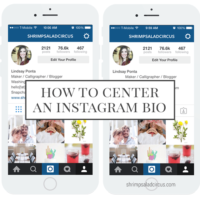 How to Center Your Instagram Bio - Blog Better