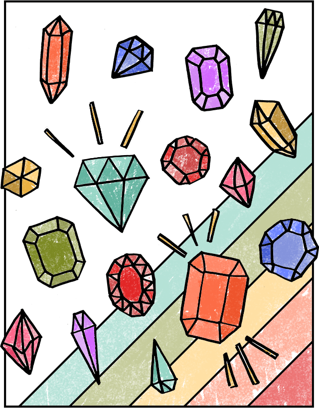 Free Gemstones Coloring Page