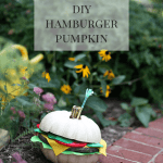 DIY Hamburger Pumpkin Tutorial