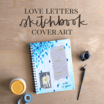 DIY Mixed Media Sketchbook Cover - Love Letters