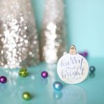 DIY Calligraphy Christmas Ornament with Free Printable Image Transfer