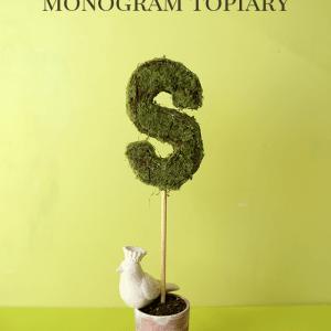 DIY Monogram Topiary