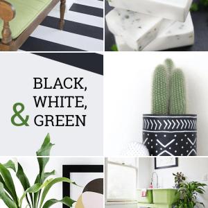 Black Green Modern DIY Projects