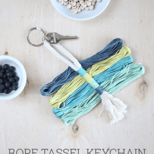 DIY Rope Tassel Keychain - Pinterest in Real Life