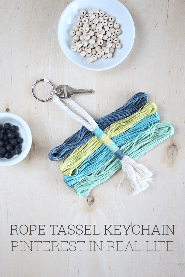 DIY Rope Tassel Keychain - Pinterest in Real Life