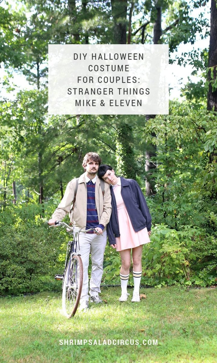 DIY Stranger Things Halloween Costume for Couples - Mike and Eleven