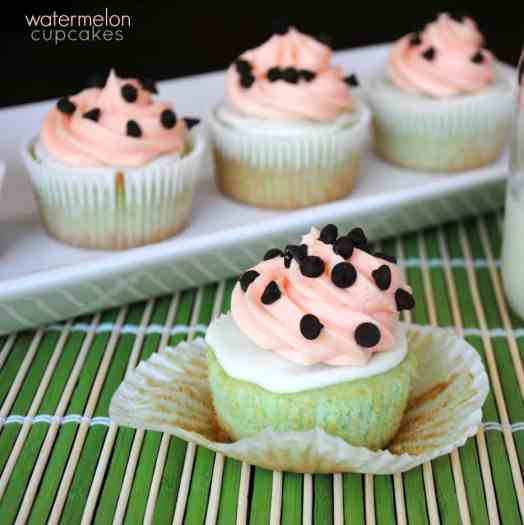 Adorable Watermelon Cupcakes