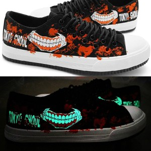 Glow In The Dark Tokyo Ghoul Shoes