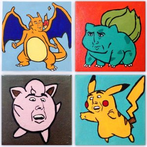 Nicolas Cage Pokemon Paintings Shut Up And Take My Yen : Anime & Gaming Merchandise