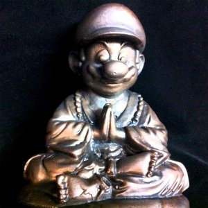 Super Mario Buddha Statue Shut Up And Take My Yen : Anime & Gaming Merchandise
