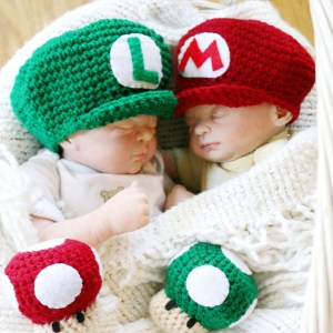Newborn Crochet Mario Bros Hats & Mushrooms Shut Up And Take My Yen : Anime & Gaming Merchandise
