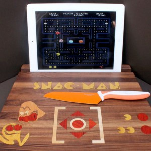 Pac-Man Cutting Board Tablet Stand Shut Up And Take My Yen : Anime & Gaming Merchandise