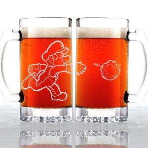 Super Mario Bros Fireball Beer Mug Shut Up And Take My Yen : Anime & Gaming Merchandise