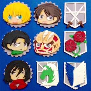 Attack On Titan Cupcake Toppers