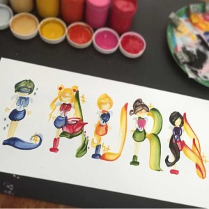 Custom Sailor Moon Name Painting