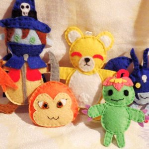 Digimon Felt Charms