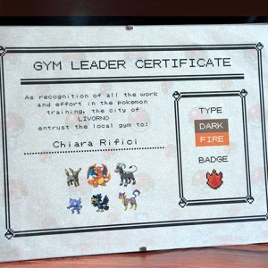 Pokemon Gym Leader Certificate