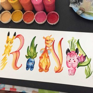 Pokemon Name Painting
