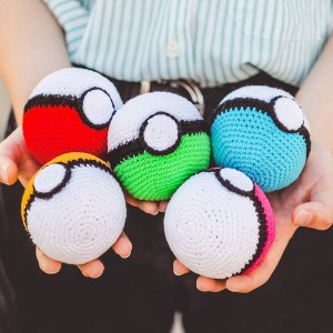 Crocheted Pokeballs