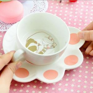 Cat Teacup And Paw Saucer