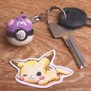 Crochet Pokeball Keychains