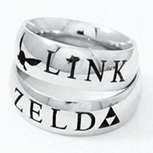 Link And Zelda Couples Rings