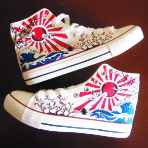 Japanese Hand Painted Shoes