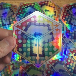 Super Mario Kart Item Box Holographic Sticker