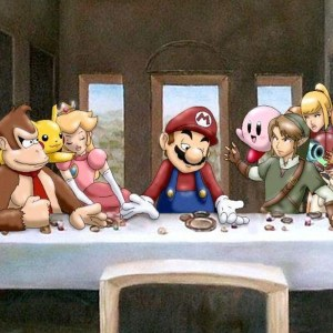Nintendo Last Supper Playmat Mouse Pad