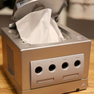 Repurposed GameCube Tissue Box