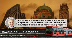 Metro Bus Service in Multan, Faisalabad and Rawalpindi-Islamabad