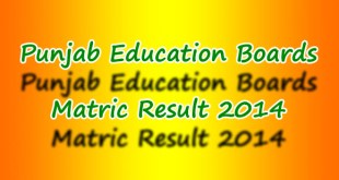 All Punjab Boards Matric Result 2014