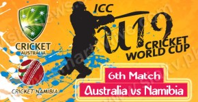 Australia vs Namibia 6th Cricket Match Under-19 World Cup 2014 Live Streaming
