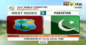 Pakistan vs West Indies T20 World Cup 2014 Match Live Streaming