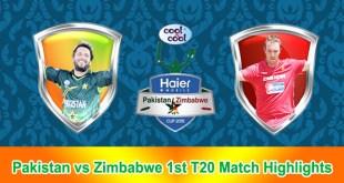 Pakistan vs Zimbabwe 1st T20 Match Highlights