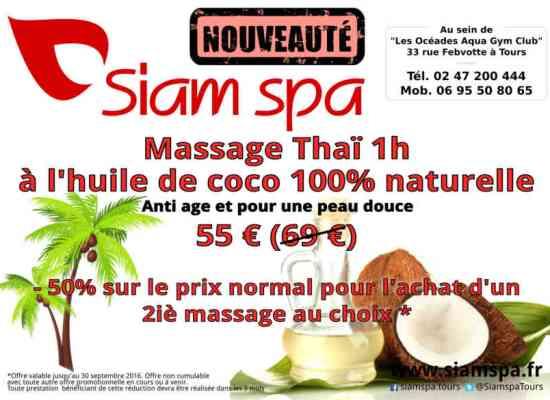Massage Thaïlandais 1h à l'huile de coco pour 55 Euros !