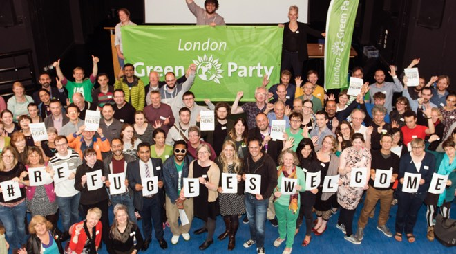 London Greens say refugees are welcome