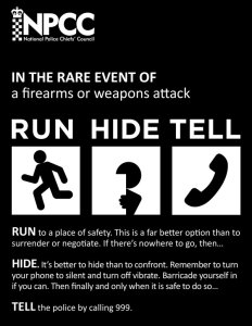 Run, Hide, Tell advice