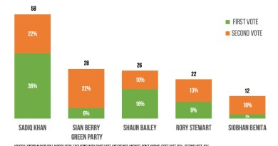 Poll shows Greens edging second in Mayor total votes