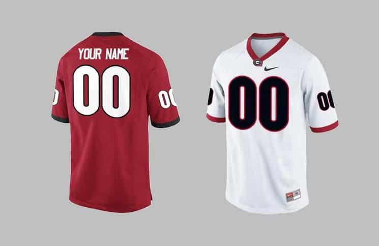 Custom UGA Football Jerseys