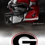 UGA Nike Pro Combat Helmet 5